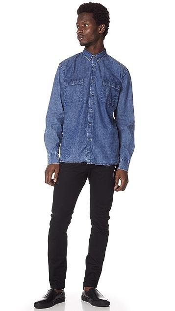 Zanerobe Denim Box Long Sleeve Shirt