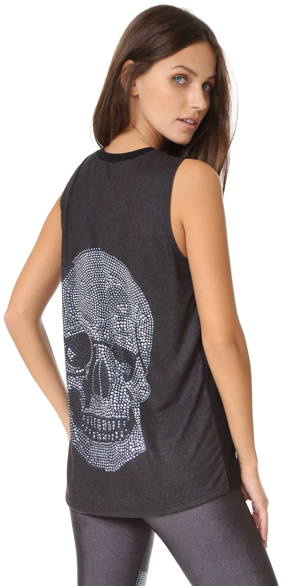 Crystal Skull Centered Muscle Tank Terez