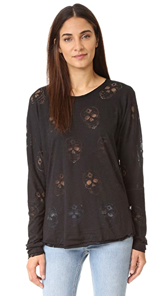Terez Black Sugar Skull Long Sleeve
