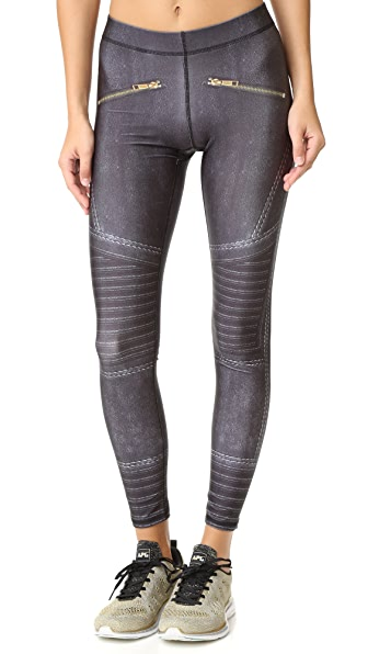 Terez Black Moto Performance Leggings