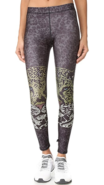 Terez Crystal Leopard Performance Leggings