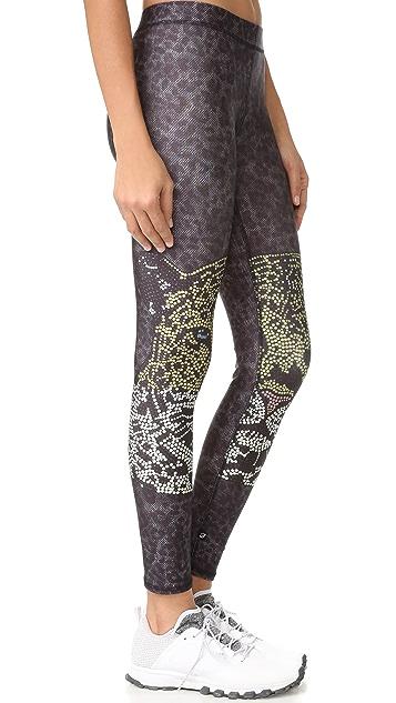 Terez Crystal Leopard Performance Leggings