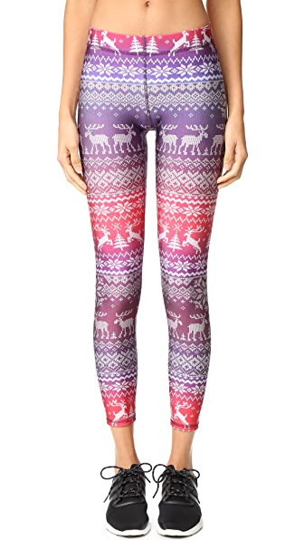 Terez Fair Isle Purple Performance Leggings