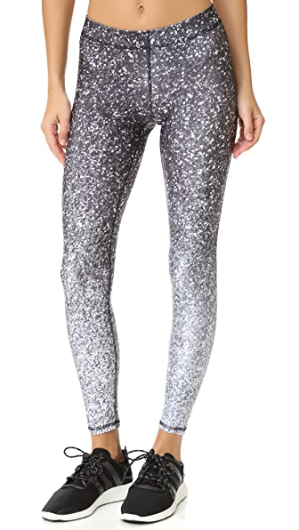 Terez Black & White Glitter Performance Leggings - Multi
