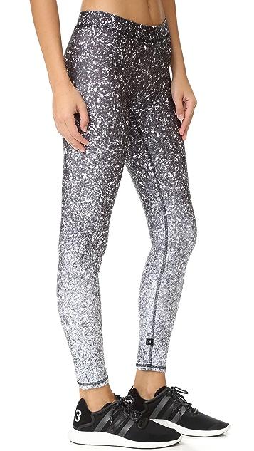 Terez Black & White Glitter Performance Leggings