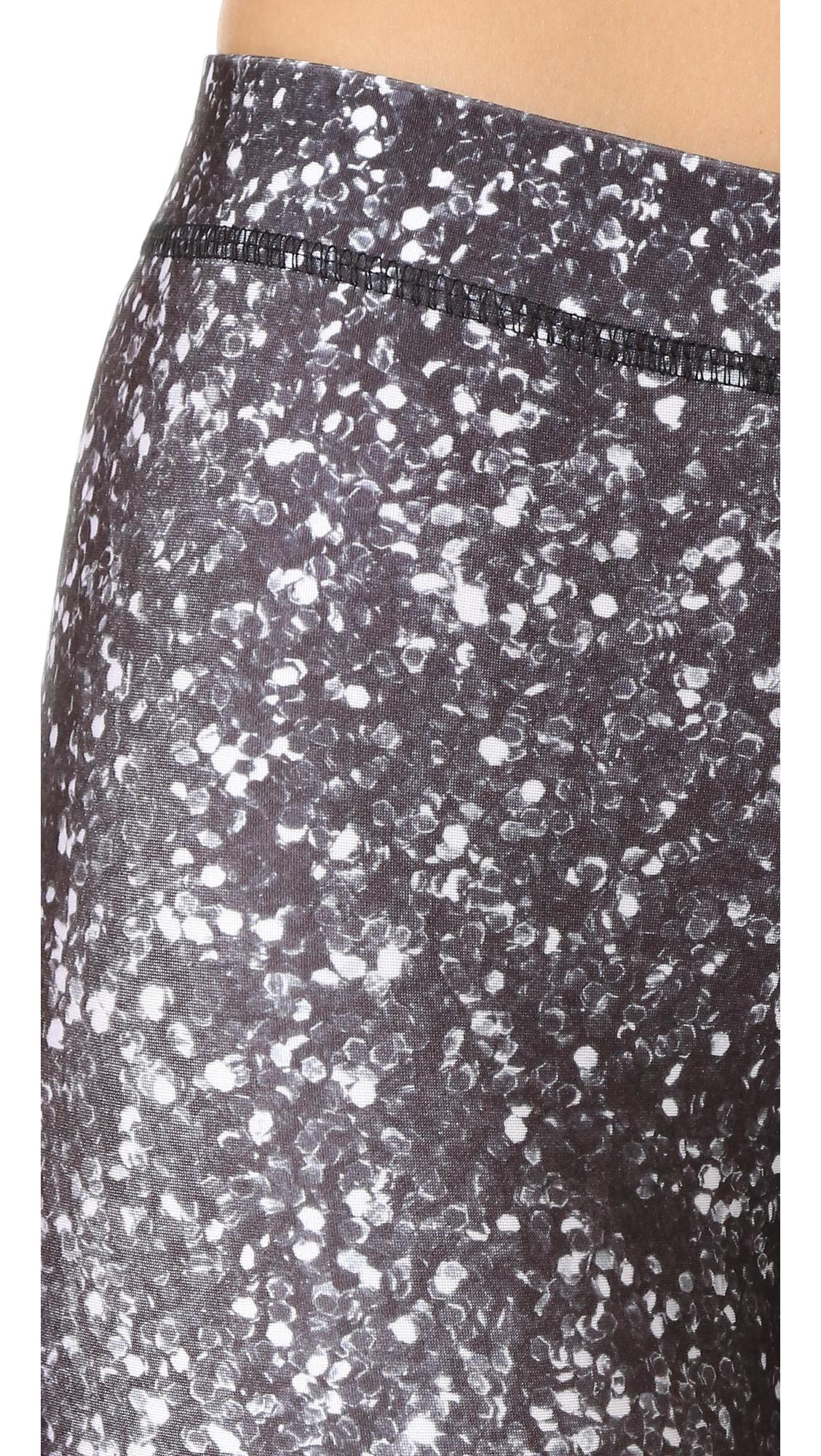Black & White Glitter Performance Leggings