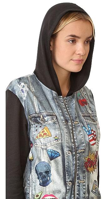 Terez Jean Jacket Zip Up Hoodie