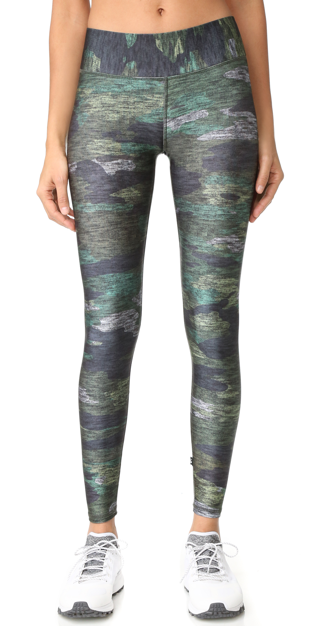 Heathered Camo Tall Band Leggings Terez