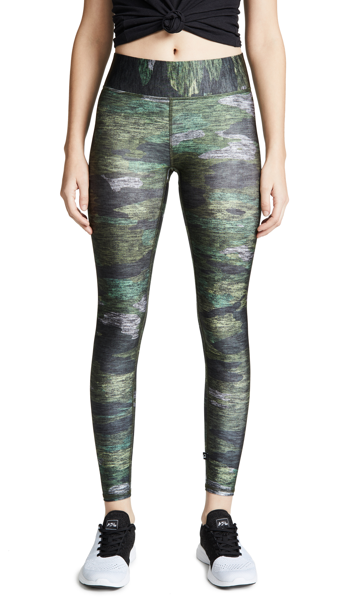 Terez Heathered Camo Tall Band Leggings