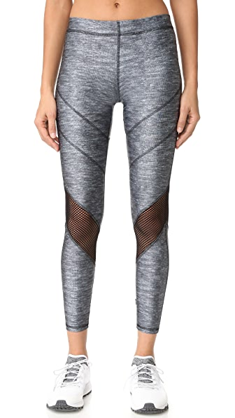 Terez Varsity Mesh Heathered Leggings