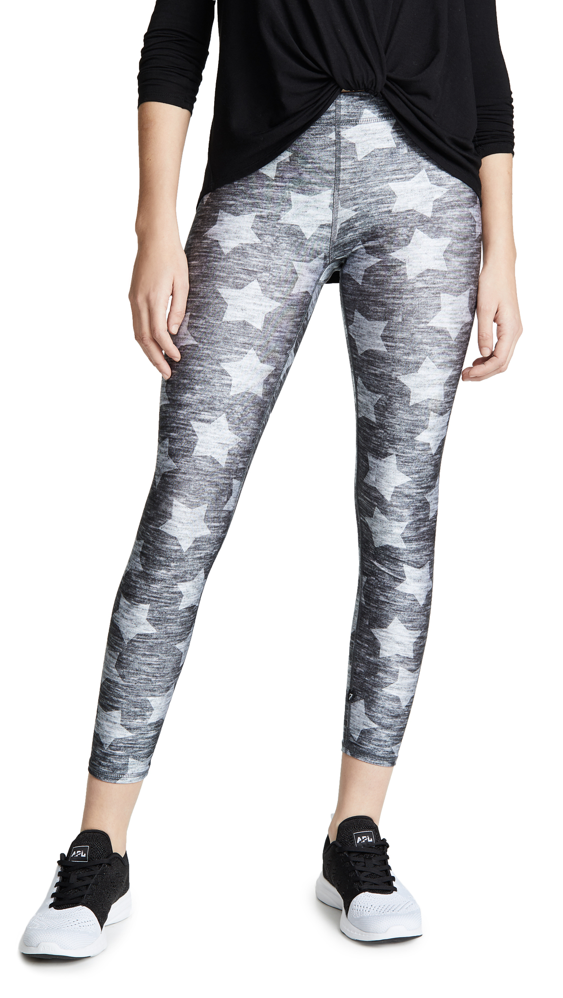 Terez Heathered Stars Performance Leggings
