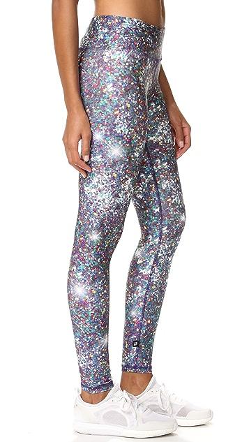 Terez Night Sparkle Tall Band Leggings