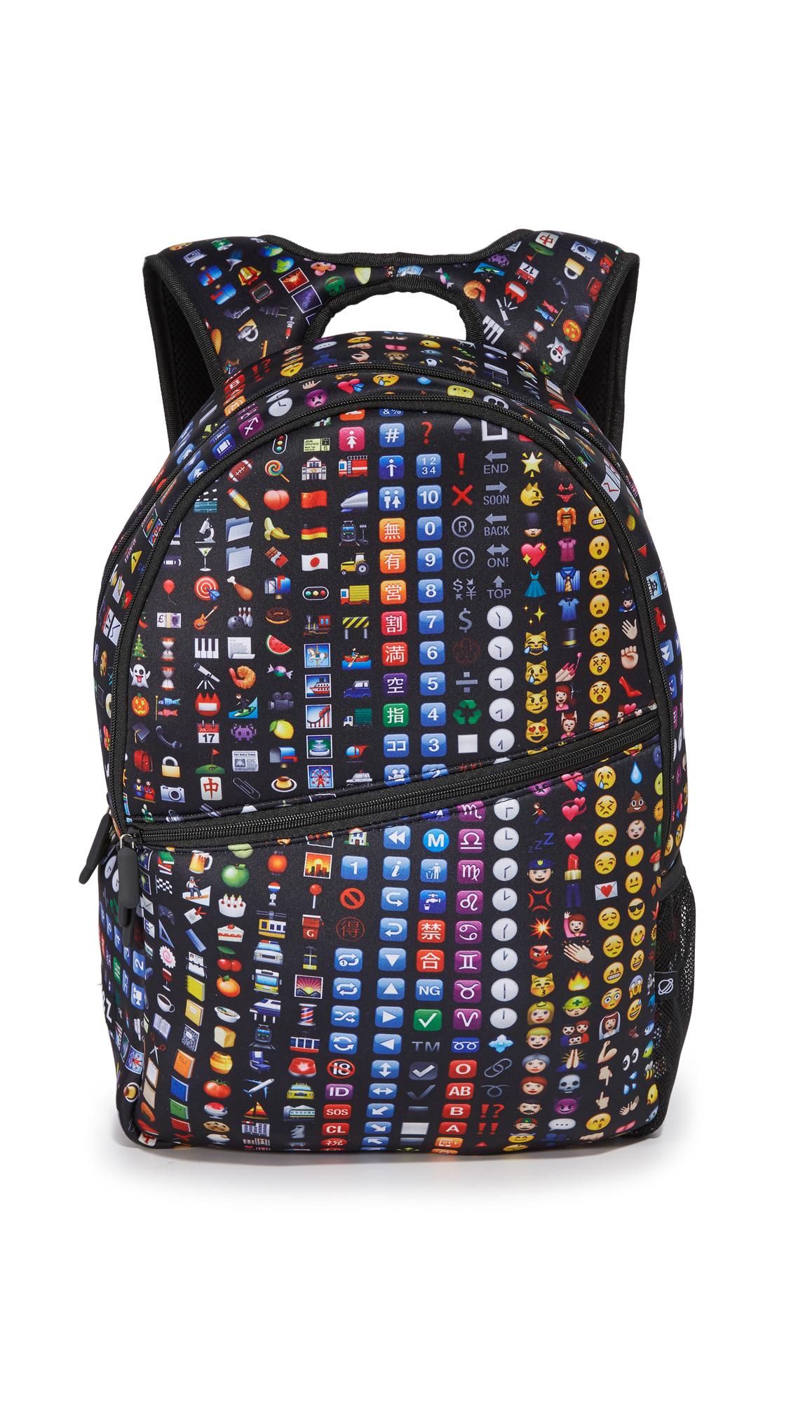 terez female terez backpack black emoji