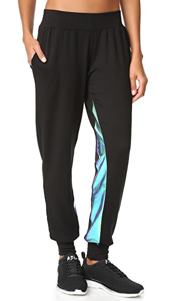 Terez Metallic Insert Jogger Pants - Multi