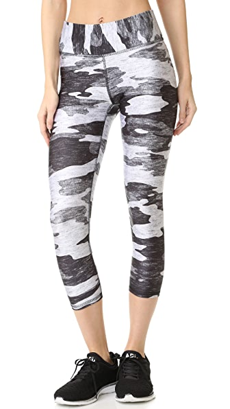 Terez Grey Camo Wide Band Leggings - Multi