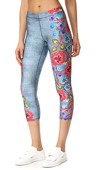Terez Floral Capri Leggings - Multi