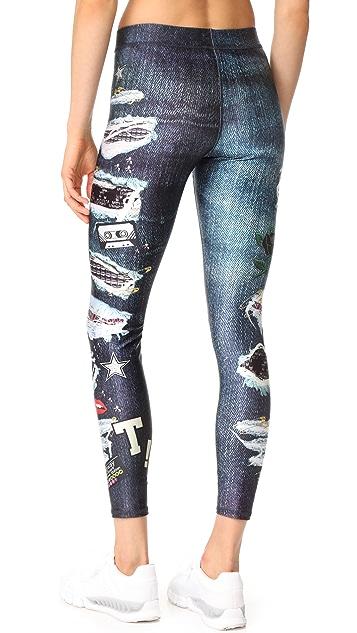 Terez Ripped Jeans Performance Leggings