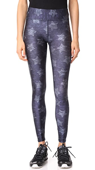 Terez Star Print Tall Band Pants - Multi
