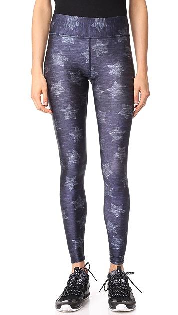 Terez Star Print Tall Band Pants