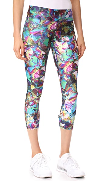 Terez Tall Band Capri Leggings - Multi