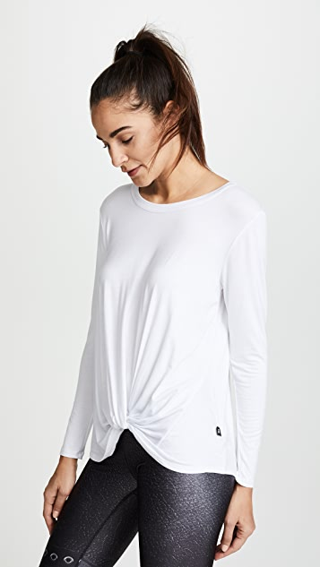 Terez Twist Front Long Sleeve Tee