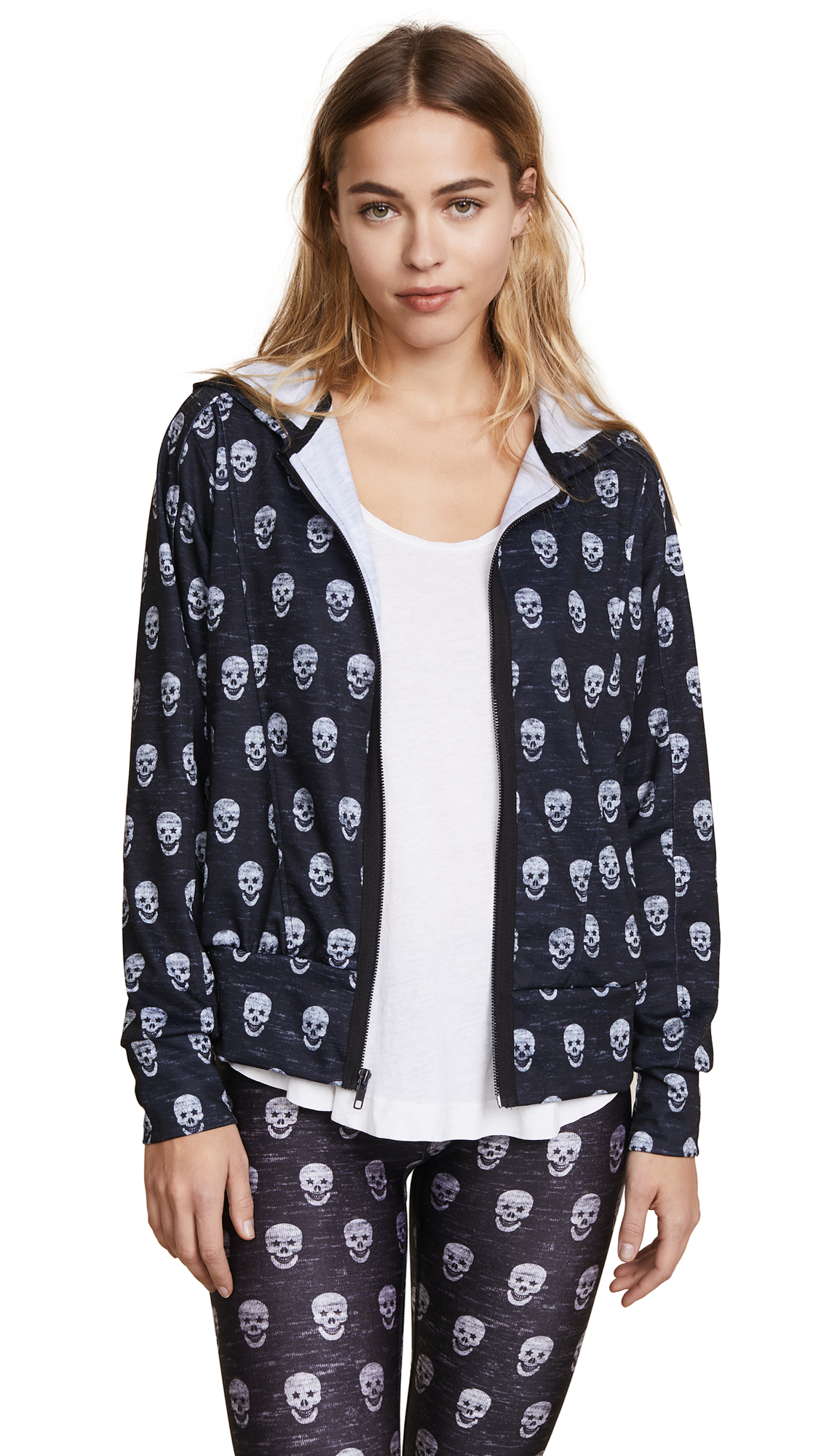 Terez Mini Heathered Skulls Hoodie In Multi