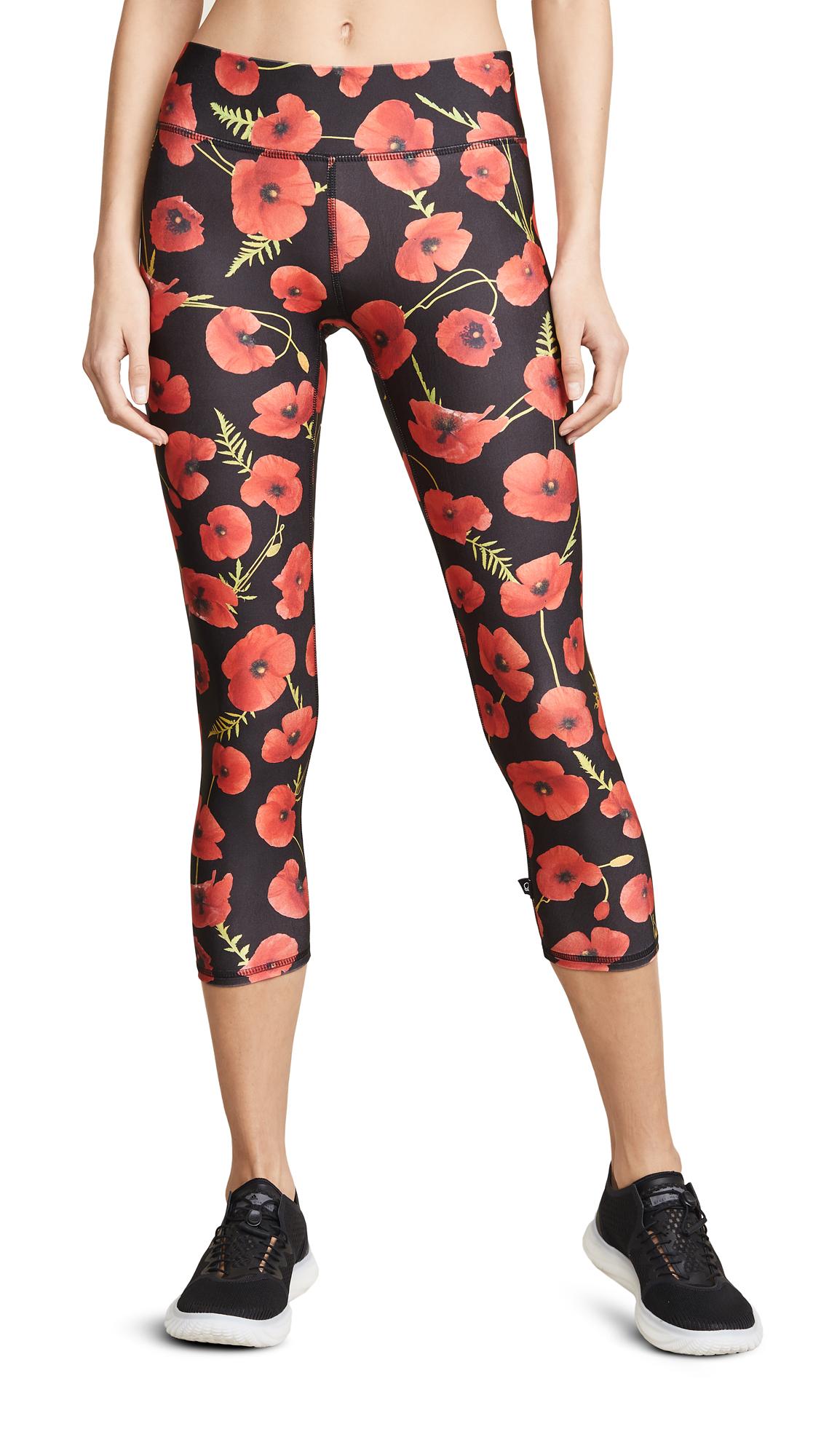 Terez Poppies Capri Band Leggings