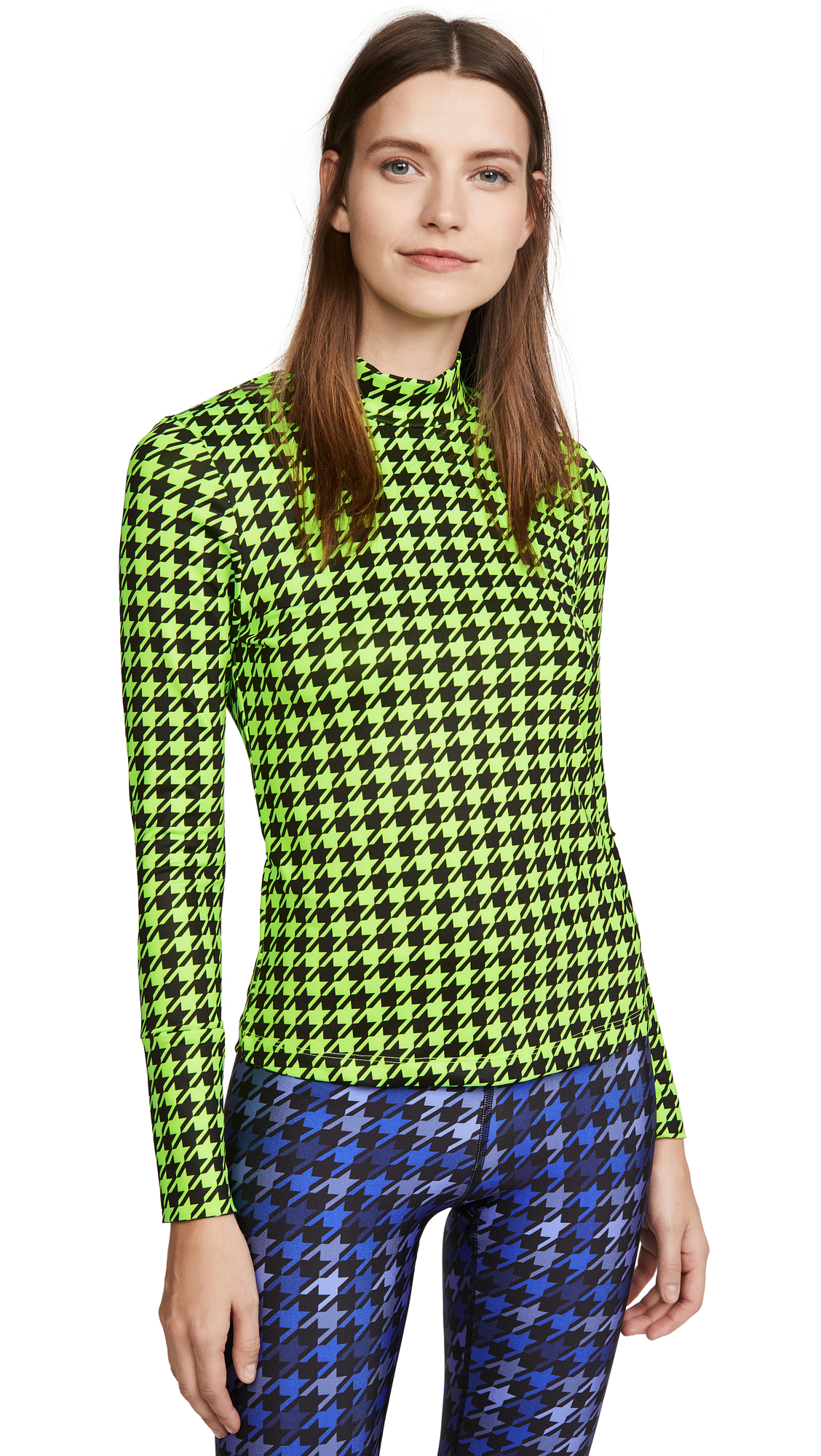 Buy Terez online - photo of Terez Printed Mockneck