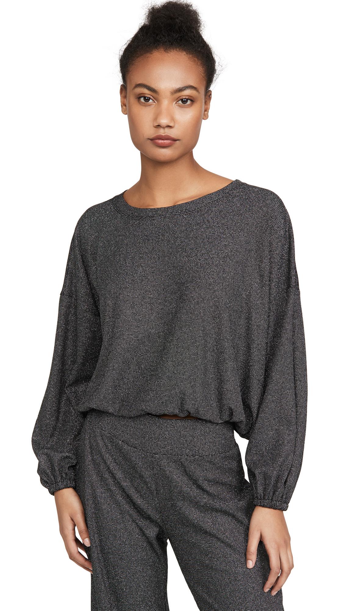 Buy Terez online - photo of Terez Shimmer Knit Waffle Sweatshirt