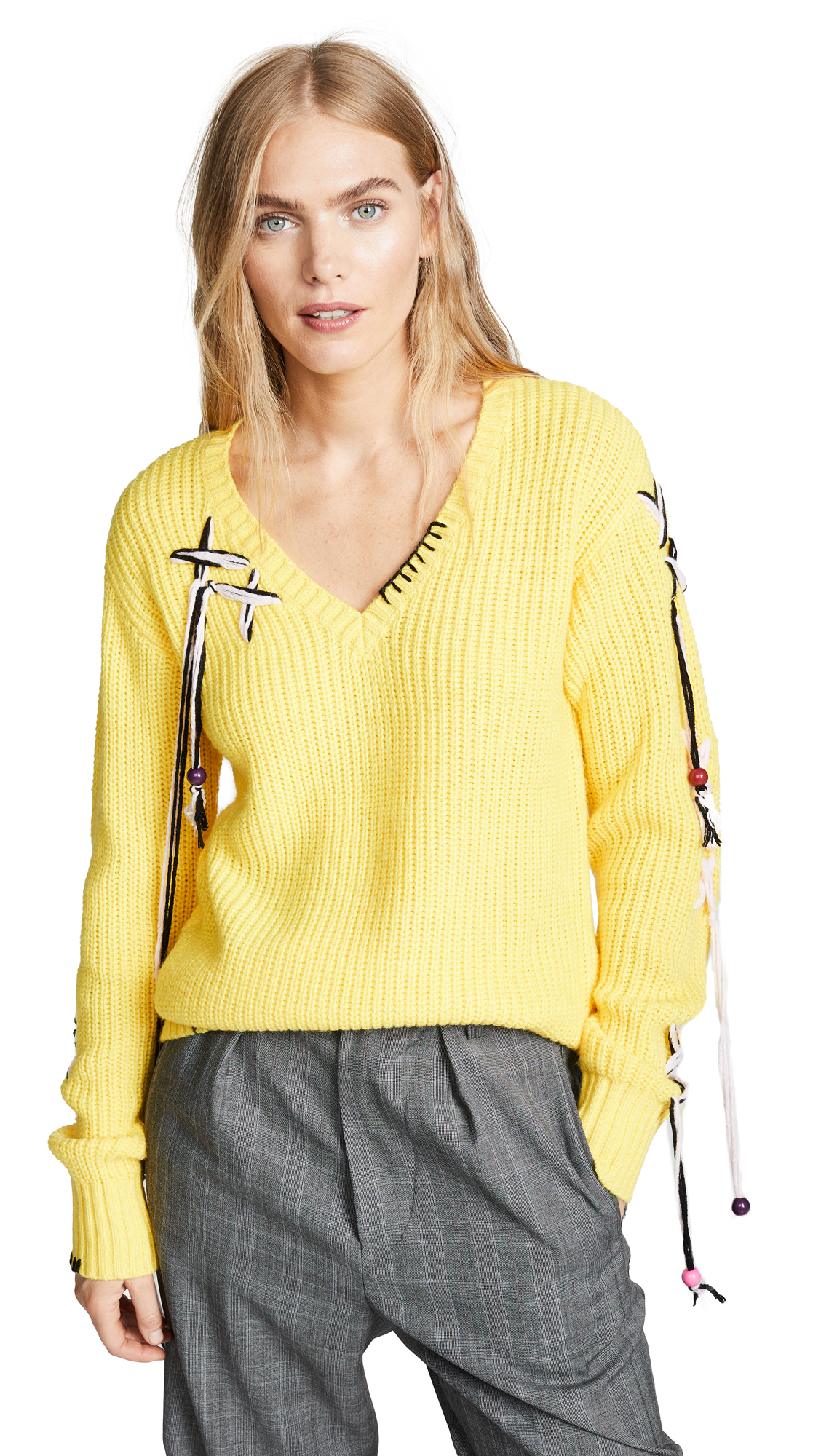 ZAYAN THE LABEL Paige Sweater in Yellow