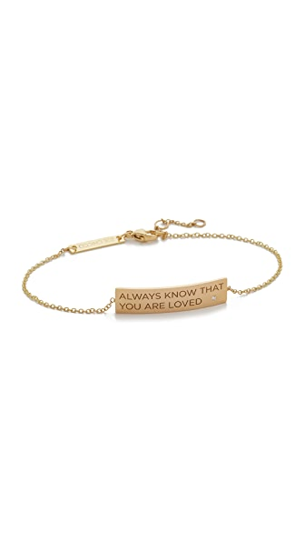 Zoe Chicco 14k Gold Always Know That You Are Loved Bracelet - Gold