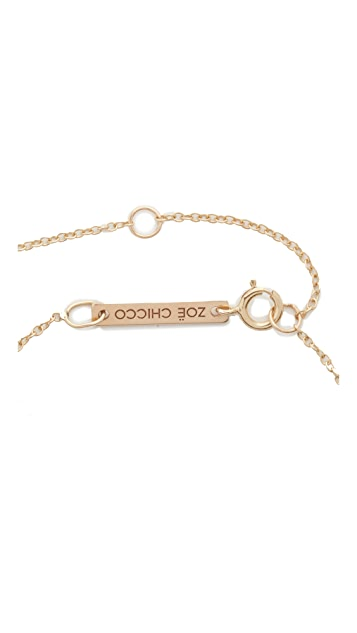Zoe Chicco 14k Gold One Diamond Chain Choker Necklace