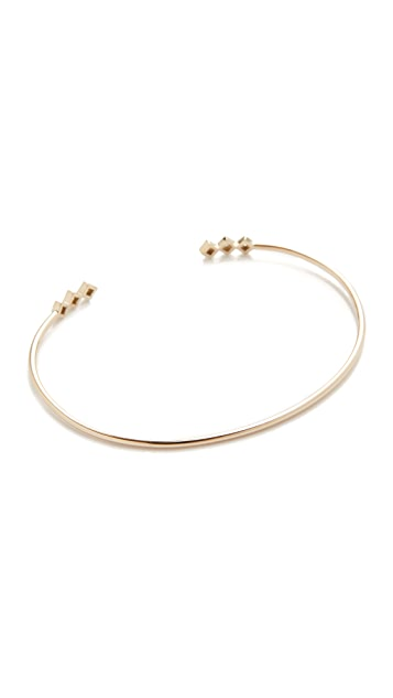 Zoe Chicco 14k Gold Princess Diamonds Cuff Bracelet