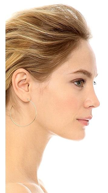 Zoe Chicco 14k Gold Bezel Diamonds Large Hoop Earrings