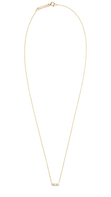 Zoe Chicco 14k Gold Bezel Diamonds Short Pendant Necklace