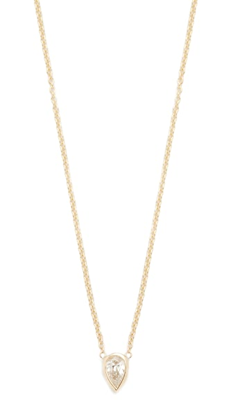 Zoe Chicco 14k Gold Paris Short Pendant Necklace In Gold/Clear