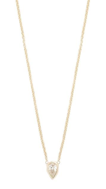Zoe Chicco 14k Gold Paris Short Pendant Necklace