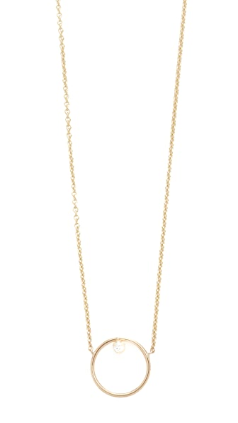 Zoe Chicco 14k Gold Paris Short Circle Necklace