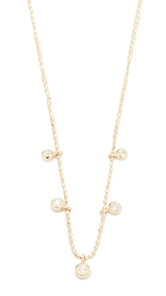 Zoe Chicco Bezel Diamonds Station Necklace