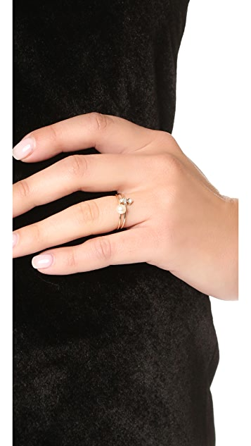 Zoe Chicco 14k Gold Freshwater Cultured Pearl Stacking Ring