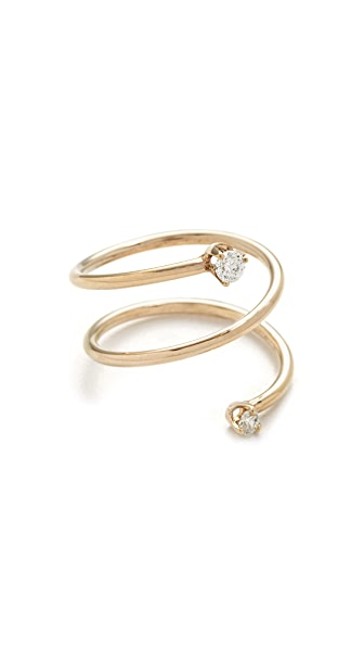 Zoe Chicco 14k Gold Paris Statement Ring - Gold/Clear