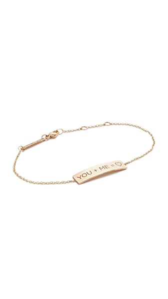 Zoe Chicco 14k Gold You + Me = Heart Bracelet