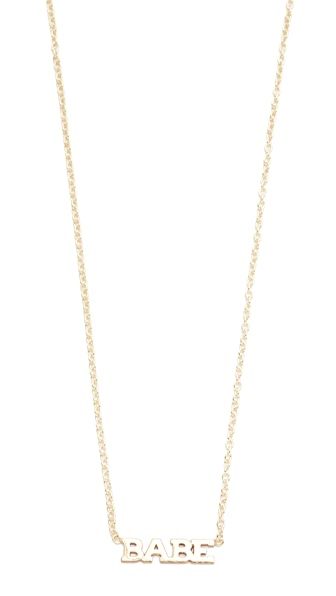 Zoe Chicco 14k Gold Babe Short Pendant Necklace - Gold