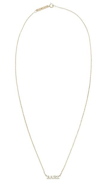 Zoe Chicco 14k Gold Babe Short Pendant Necklace