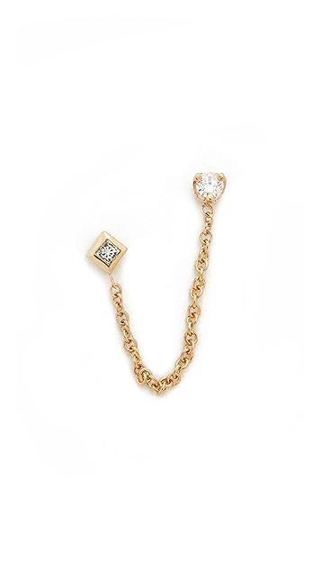 Zoe Chicco 14k Gold Paris Double Chain Stud Earrings