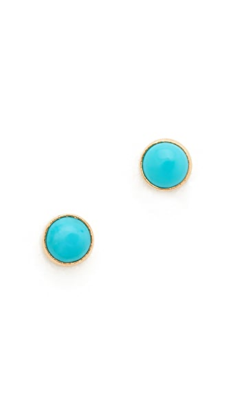 Zoe Chicco Turquoise Gemstones Stud Earrings