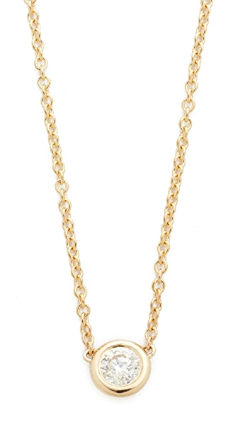 Zoe Chicco Bezel Diamond Short Pendant Necklace