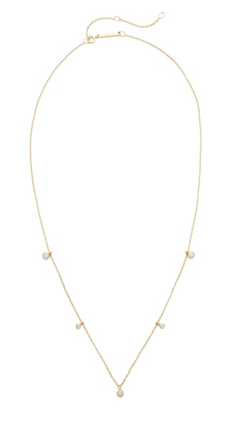 Zoe Chicco 14k Gold Opal Gemstones Short Station Necklace - Gold/White