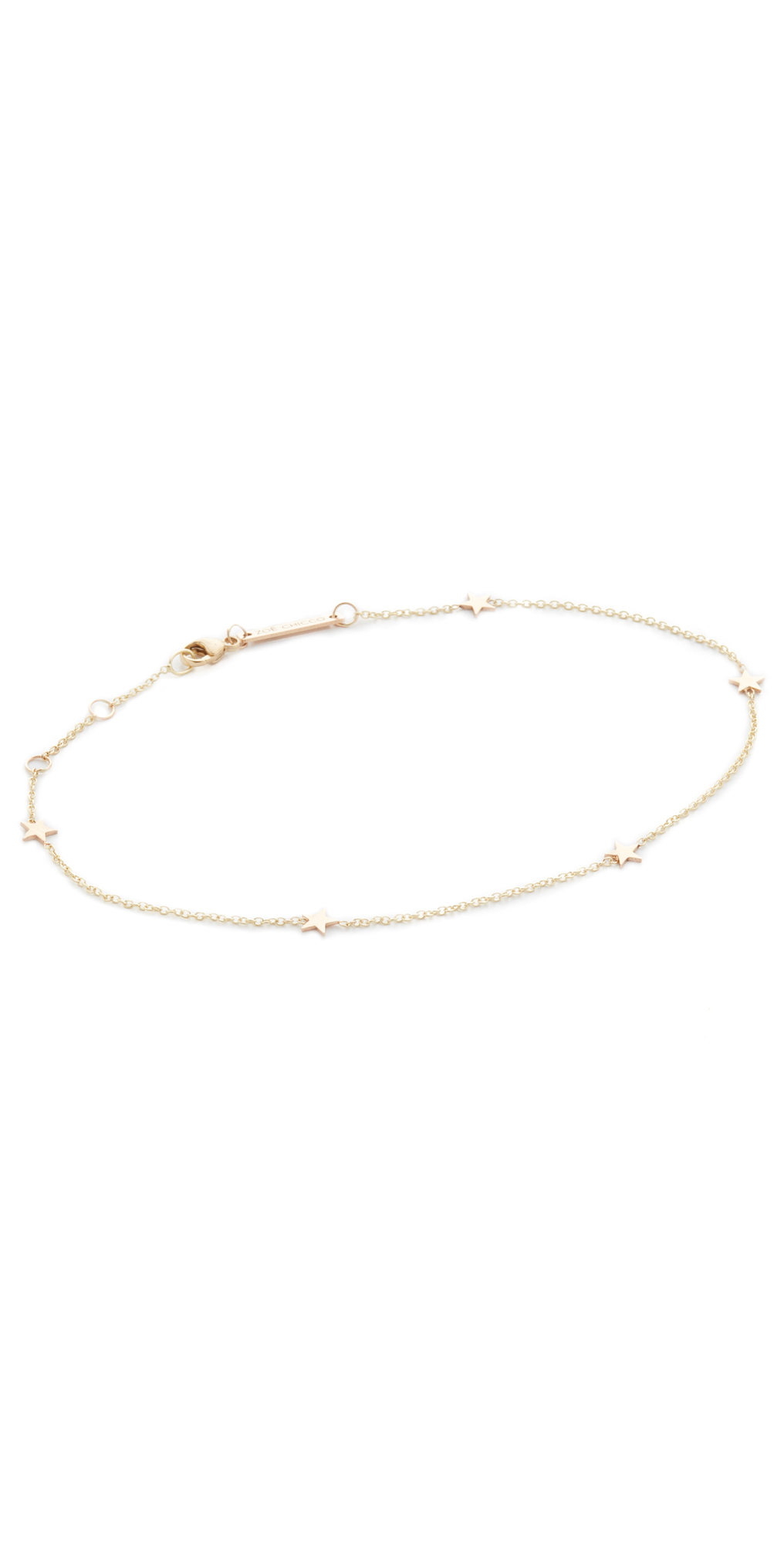 14k Gold Itty Bitty Anklet Zoe Chicco