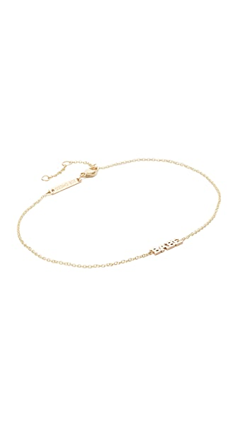 Zoe Chicco Itty Bitty Babe Anklet - Gold